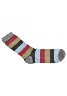 Capital brede striber grå, rød, blå og grøn